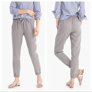 Pointe Sur seaside pant gray linen joggers size 4
